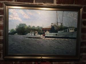 Apalachicola boat painting warren butler