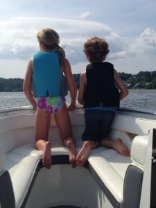 Lauren and tyson on boat