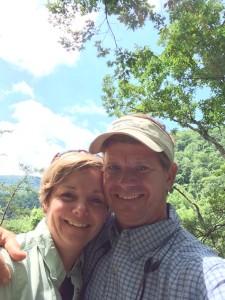 Tom & Erica hiking