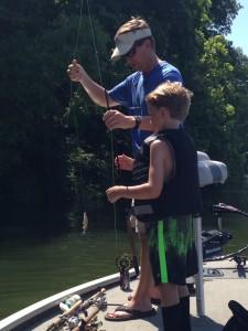 Tom & Tyson fishing