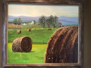 hay bale 2 painting warren butler