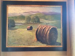hay bale painting warren butler