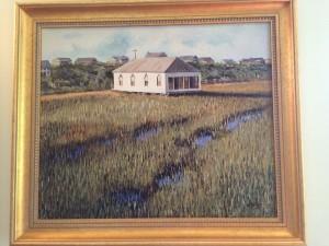 pawleys island church painting warren butler